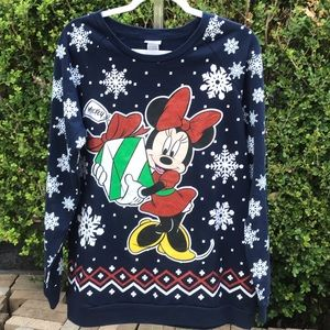 Disney Minnie Mouse Cute Ugly Christmas Sweater 1X